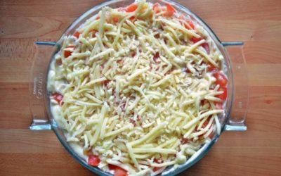 Tomaten Schicht Salat